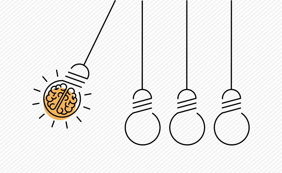 Creative Idea Concept Illustration In Modern Outline Design With