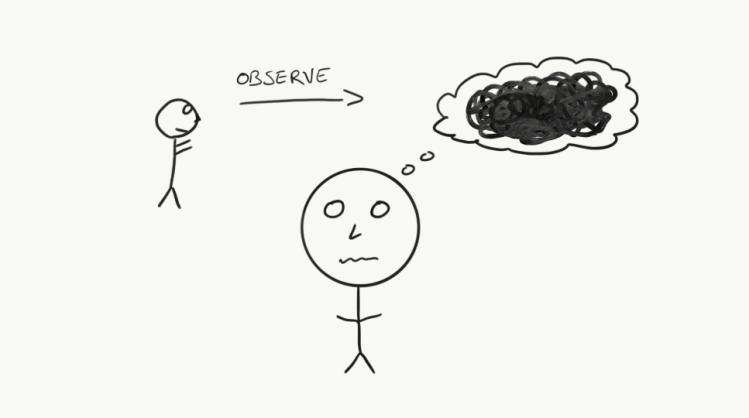 Dar un paso atrás de las cosas que haces, sientes y piensas a diario, te permite ser más analítico sobre tu vidas y estar más presente. Estar atrapado en tus propios pensamientos y sentimientos sólo sirve para distraerte de lo importante.