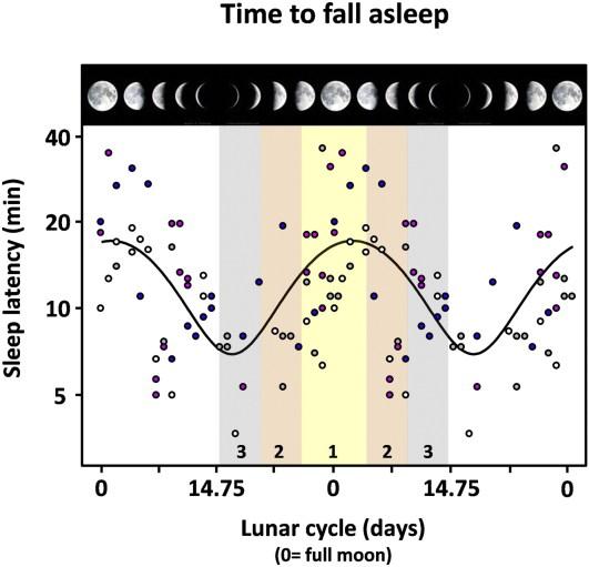 Las fases de la luna afectan al tiempo que tardamos en dormir