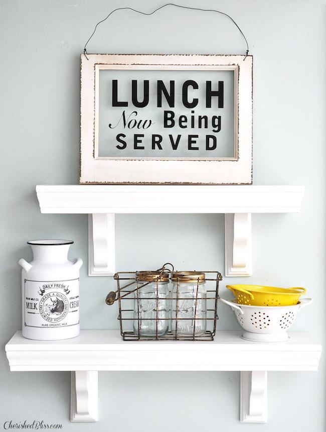 Easy to Build Kitchen Shelves farmhouse chic decor ideas