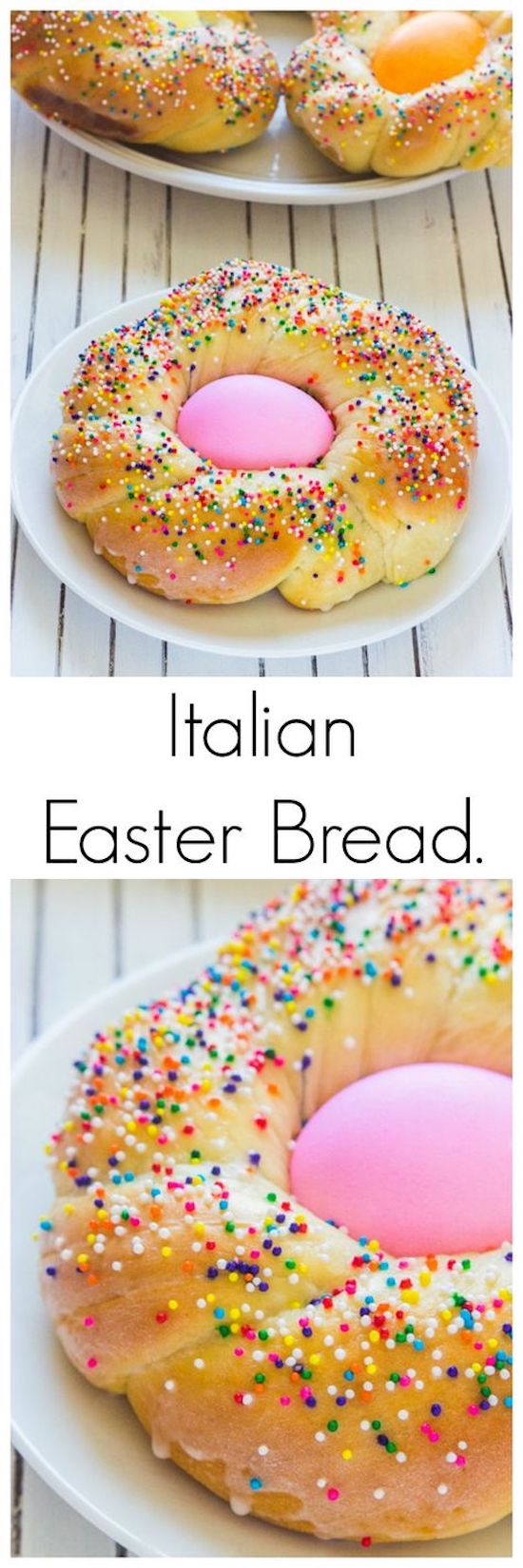 Italian Easter Bread! Look at how cute these Individual Italian Easter Bread rings are! This is a classic Easter day recipe that you must try (if you haven't already). easter recipes ideas dinner-easter recipes ideas-easter recipes side dishes-easter recipes dinner main courses-easter recipes appetizers #easter #easterrecipes #easyeaster #recipes