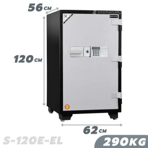 This is a picture of the SALVADO Safe S 120EL 290KG Fireproof Home and Business Safe Box provided by Smart Security in Lebanon