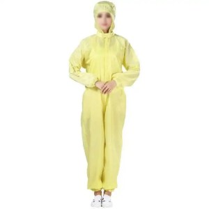 Washable Coverall Anti-Static with Hood-Yellow