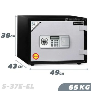 This is a picture of the SALVADO S 37E EL Safe 65KG Fireproof Home & Business Safe Box provided by Smart Security in Lebanon_1