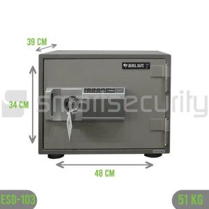Bumil safe ESD 103 51KG Fireproof Home and Business Safe Box