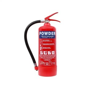 This is a picture of the 4 KG Powder Fire Extinguisher provided by Smart Security in Lebanon