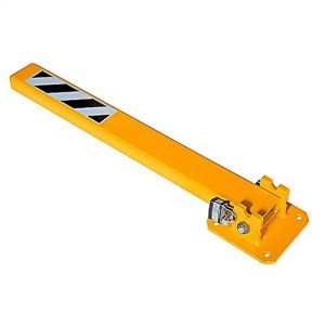 This is a picture of the Yellow Folded Down Meta Parking Pole Yellow Folded Down Meta Parking Pole provided by Smart Security_3