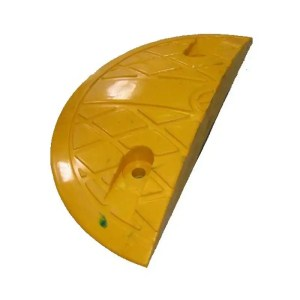 This is a picture of the Rubber Speed Hump Road Bump End CAP 35cm provided by Smart Security in Lebanon_2