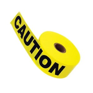 This is a picture of the Yellow Caution barricade Tape 100M provided by Smart Security in Lebanon_2