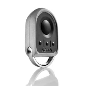 This is a picture of the Somfy KEYGO io Pocket remote control provided in Lebanon by Smart Security