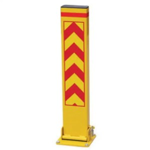 This is a picture of the Yellow Folded Down Meta Parking Pole Yellow Folded Down Meta Parking Pole provided by Smart Security_1