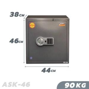 90 KG ANTI-BURGLARY SAFE VALBERG ASK 46 GRADE I