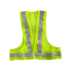 This is a picture of the reflective safety vest with LED lights provided by Smart Security in Lebanon_1