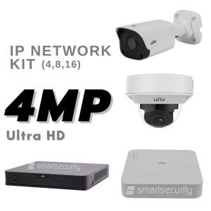 4 MP Ultra HD IP NETWORK KIT Camera Kit Security System from Uniview