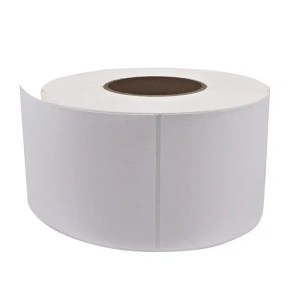 White Thermal Barcode Paper Labels Sticker Rolls
