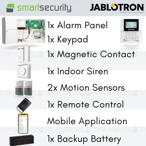 Jablotron Wired Intrusion Alarm Kit- Loud Siren With Mobile App – For Home And Business
