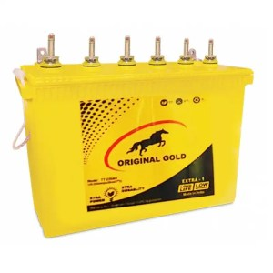 This is a picture of the Original Gold Tubular battery 12V-250AH Deep Cycle provided by Smart Security