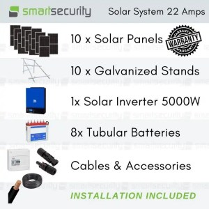 Solar energy System Package 22 AMPS