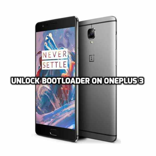 unlock Bootloader on OnePlus 3