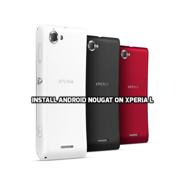 install Android Nougat on Xperia L