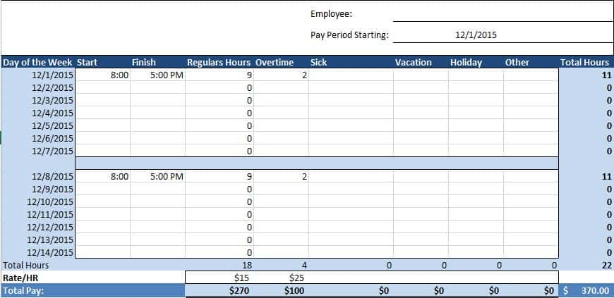 Weekly Microsoft Templates Office Timesheet Bi