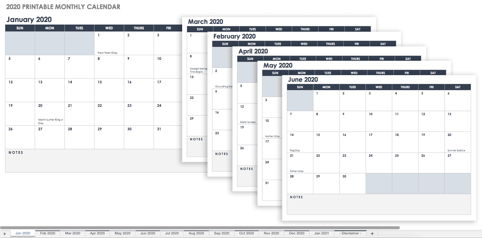 Free Printable Excel Calendar Templates For Amp On