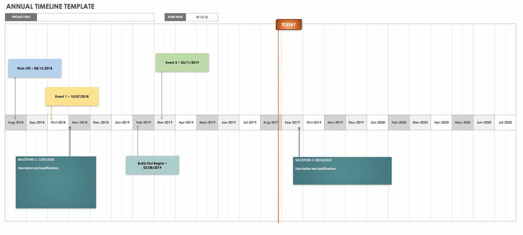 Free Project Calendar Templates