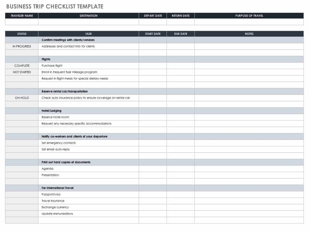 30 Free Task And Checklist Templates