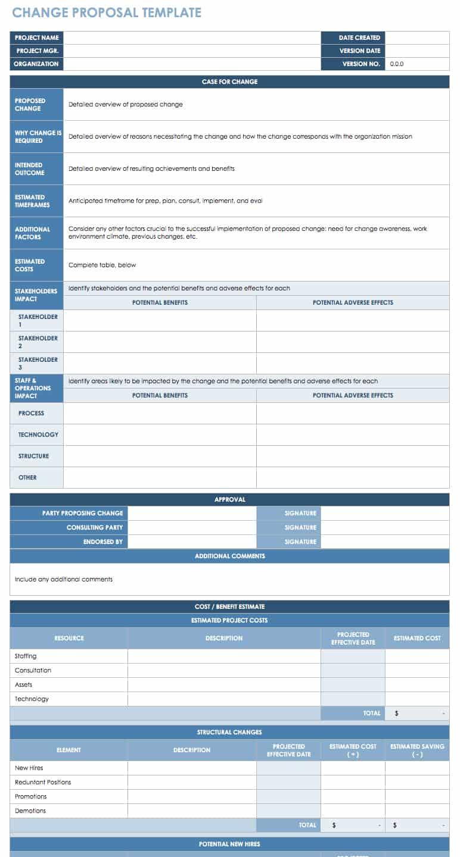 Free Change Management Templates Smartsheet