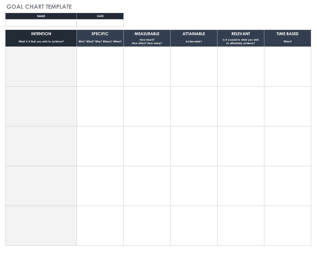 Free Goal Setting And Tracking Templates