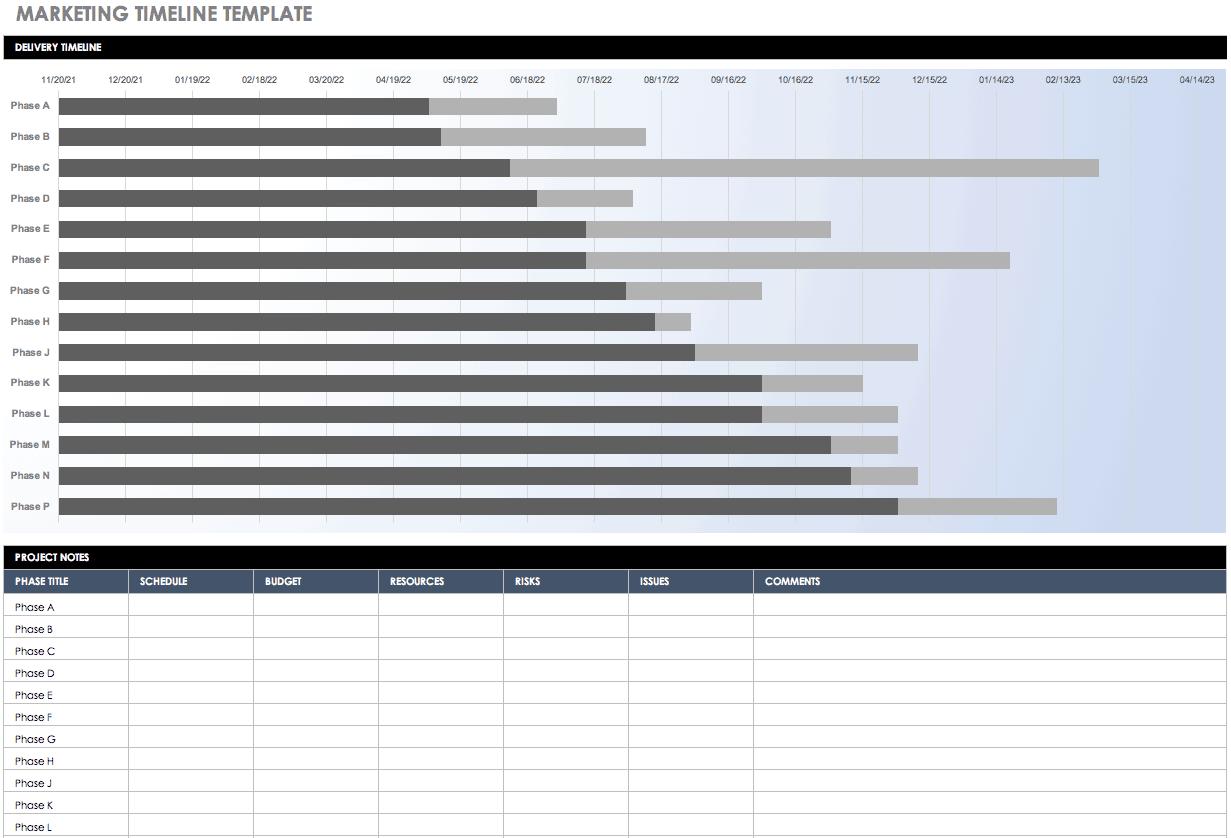 Free Blank Timeline Templates