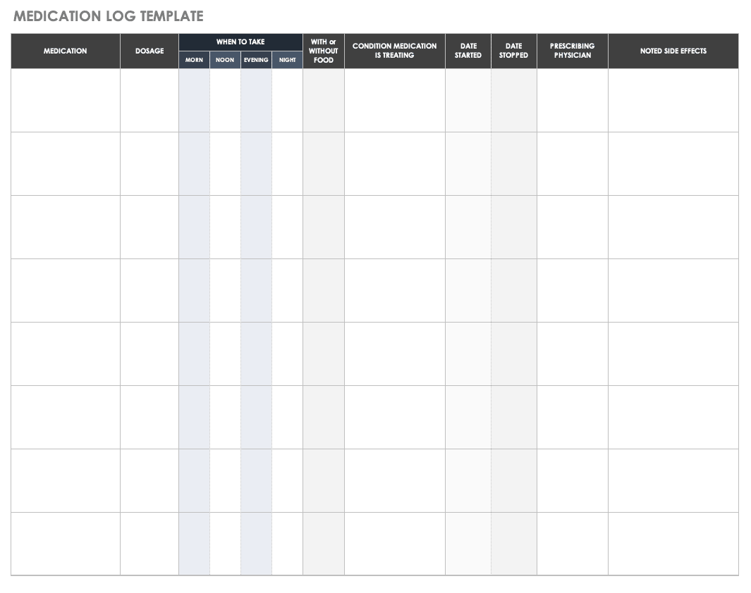 Free Printable Patient Chart Forms