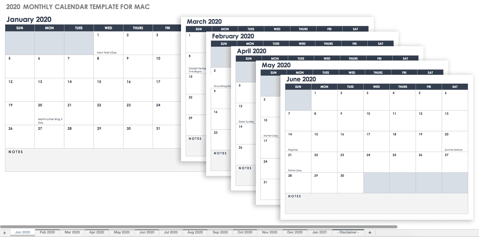 Free Excel Templates For Mac