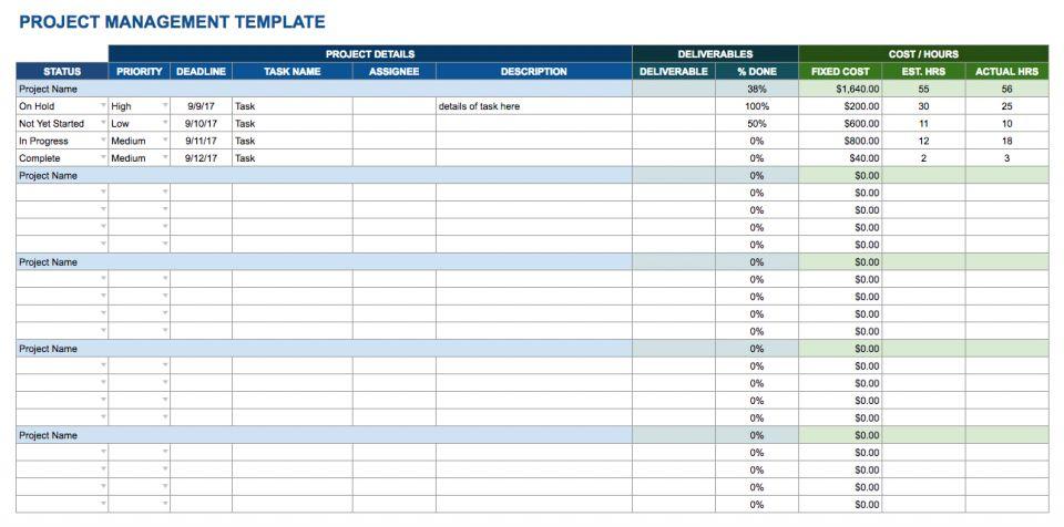 Free Google Docs And Spreadsheet Templates Smartsheet