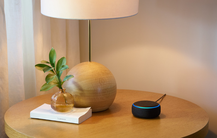 Echo Dot, Charcoal, Side Table