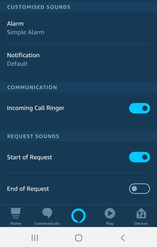Alexa request sounds