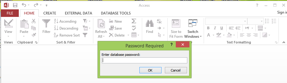 hack password protected access database