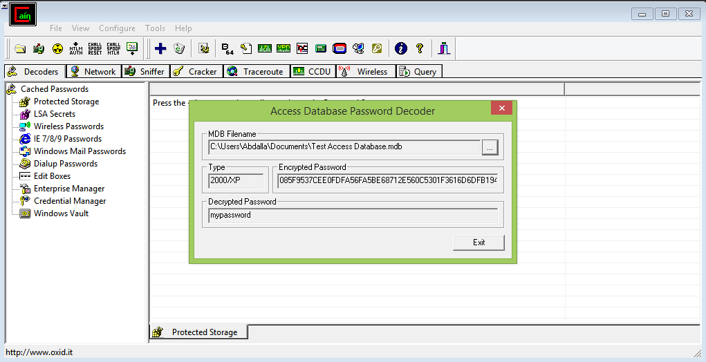 Hack password protected access database in seconds