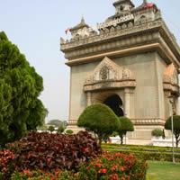 Laos culture, Patouxay monument