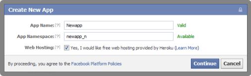 create facebook application