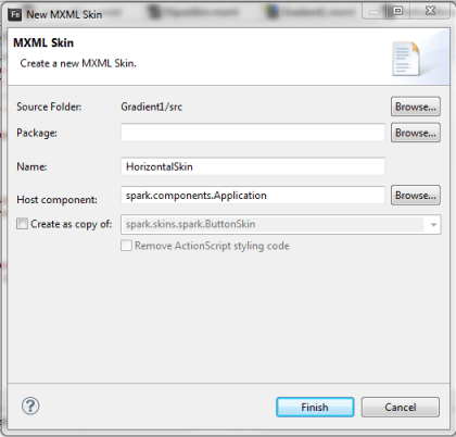 apply mxml skinning at run time to application container in flash builder 4.6