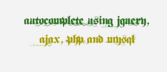 AutoComplete Using jQuery, Ajax, PHP and MySQL
