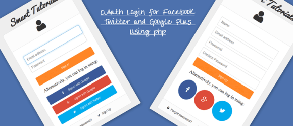 Demo OAuth Login for Facebook Twitter and Google Plus Using PHP