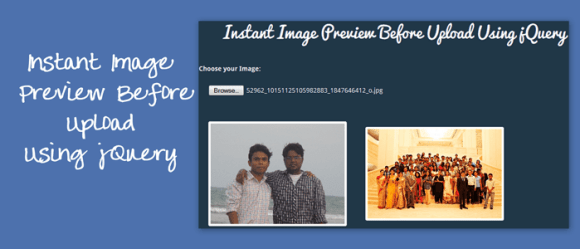 Instant Image Preview Before Upload Using jQuery