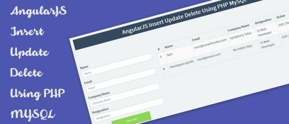 AngularJS Insert Update Delete Using PHP MySQL