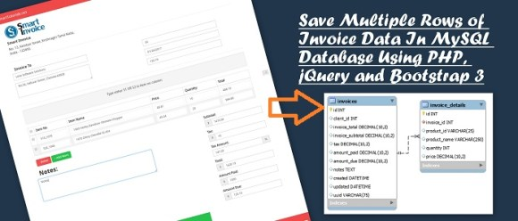 Save Multiple Rows of Invoice Data In MySQL Database Using PHP, jQuery and Bootstrap 3