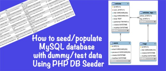Seed/Populate/Fill With Dummy/Test Data MySQL Database PHP Facker