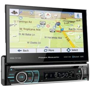 7 Incite Single-DIN In-Dash GPS Navigation Motorized LCD Touchscreen DVD Receiver with Detachable Face & Bluetooth(R) - Automotive Receivers