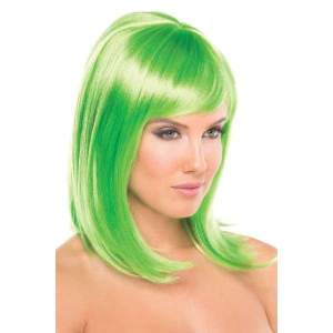 BW093GR Doll Wig Green - Green / Female / O/S - Wigs
