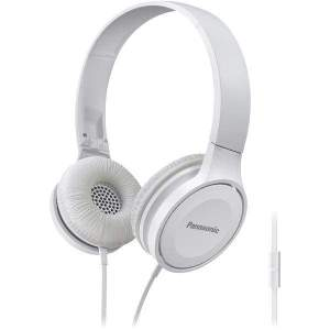 Lightweight On-Ear Headphones with Microphone (White) - Personal Electronics